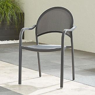 Lanai Charcoal Mesh Dining Chair