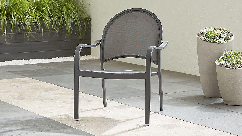 Lanai Charcoal Mesh Lounge Chair - Image 1 of 6