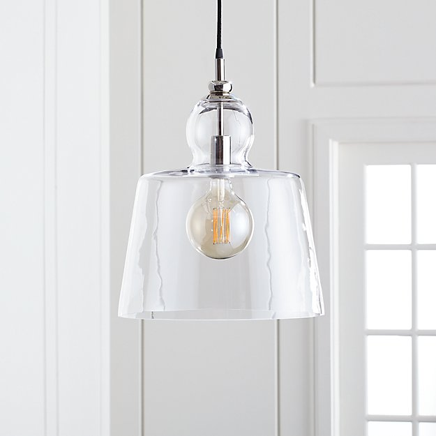 lander 15 polished nickel pendant light reviews crate and barrel