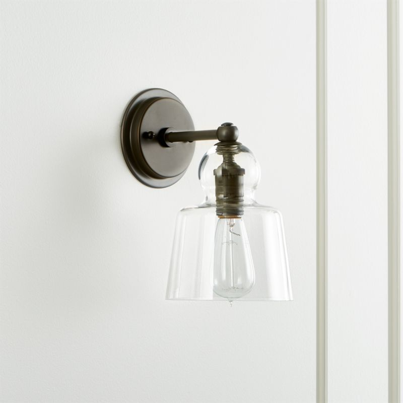 Wall Lamps Crate And Barrel : Wall Sconces: Plug In and Candle Crate and Barrel