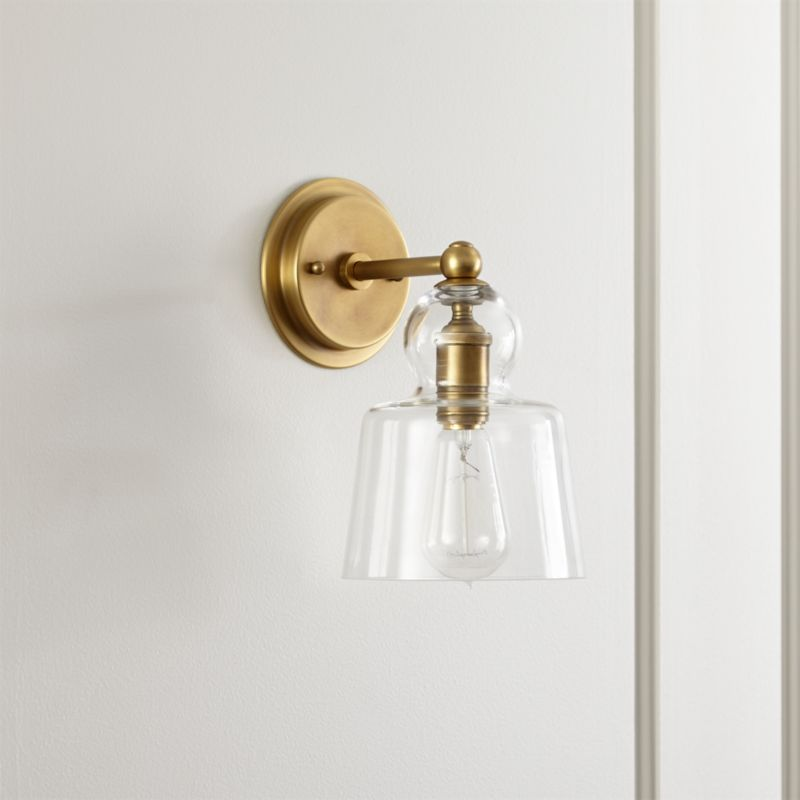 Lander Brass Sconce Reviews Crate And Barrel