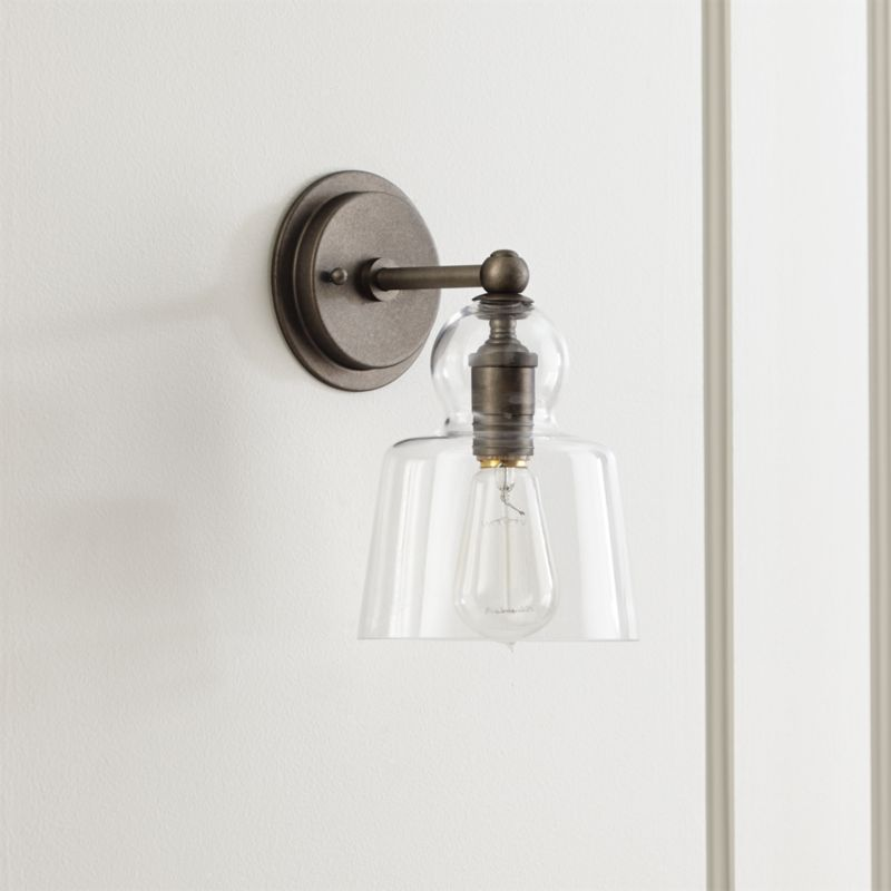 & Wall Sconces: Plug In and Candle | Crate and Barrel