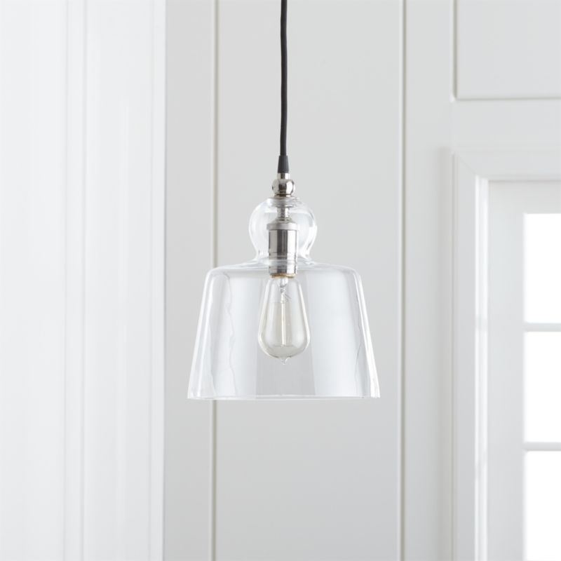 lander polished nickel pendant light reviews crate and barrel
