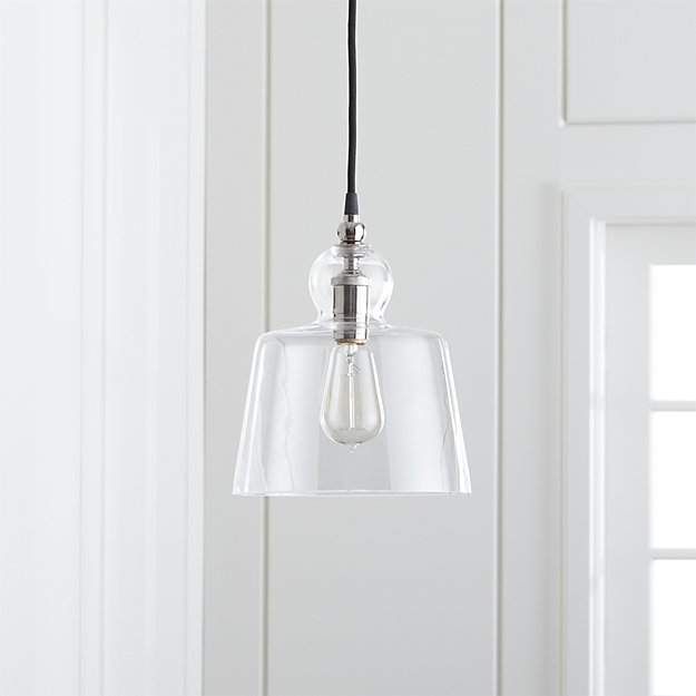 Lander polished nickel pendant light reviews crate and barrel aloadofball Gallery