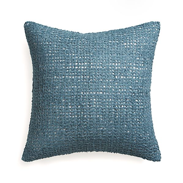"""Lanzo Blue 20"""" Pillow with Feather Insert"""