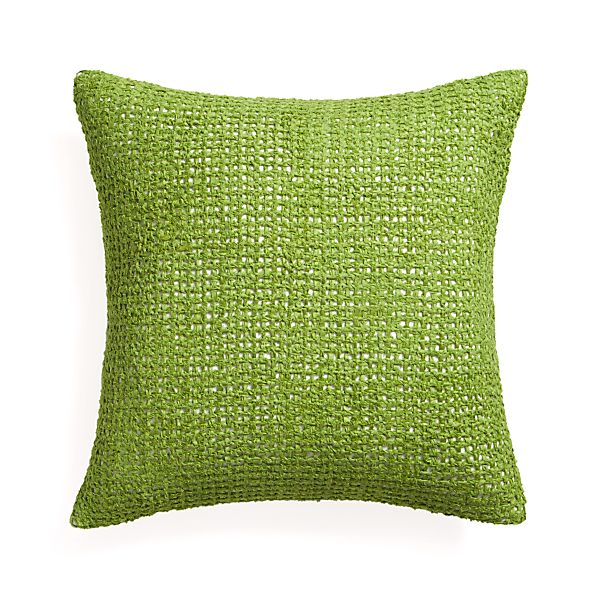 """Lanzo Green 20"""" Pillow with Feather Insert"""