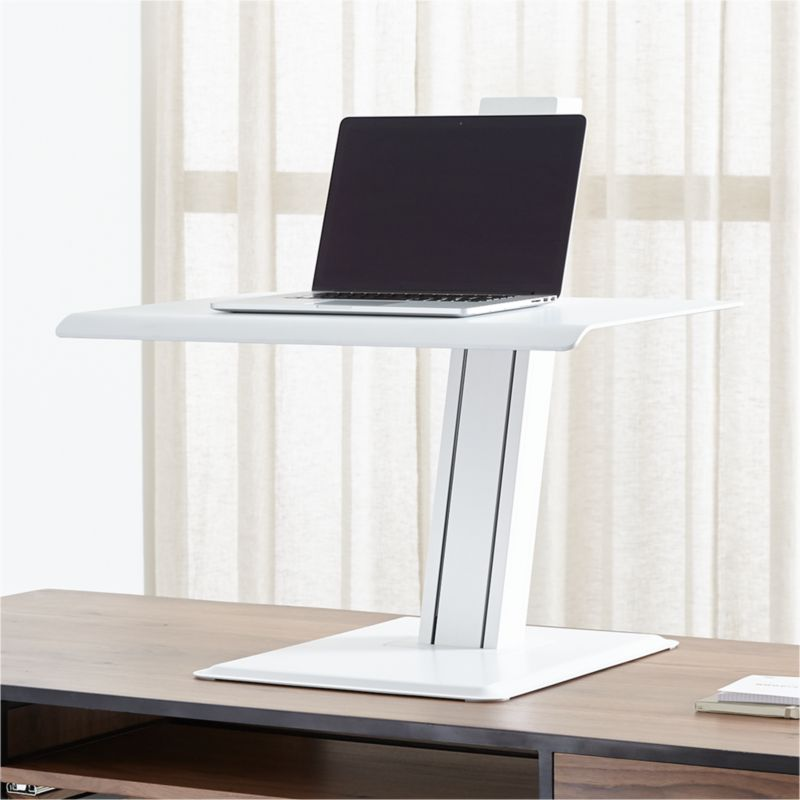 Humanscale White Laptop Quickstand Eco Standing Desk Converter