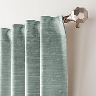 Laras Lead Velvet Curtain Panel