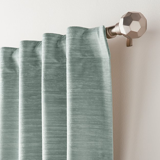 Laras Lead Velvet Curtain Panel - Image 1 of 6