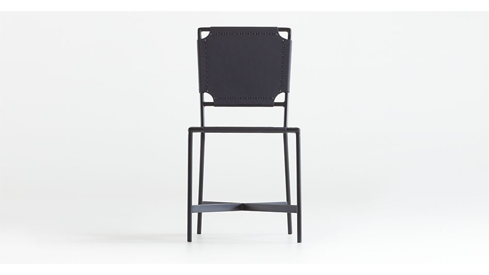 Laredo Black Leather Dining Chair - Image 1 of 6