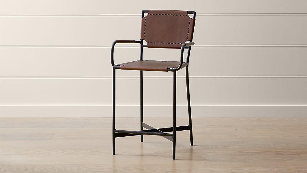 0ede20e8e35e Laredo Brown Leather Counter Stool + Reviews