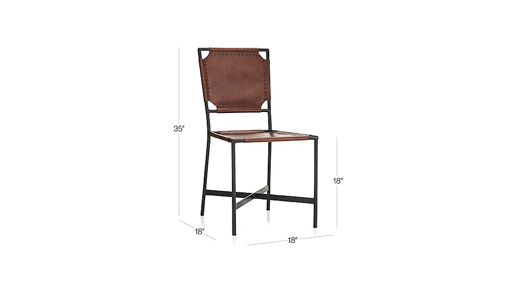 Laredo Brown Leather Dining Chair Crate and Barrel : LaredoLeatherChair3QF16Dim from www.crateandbarrel.com size 1008 x 567 jpeg 18kB