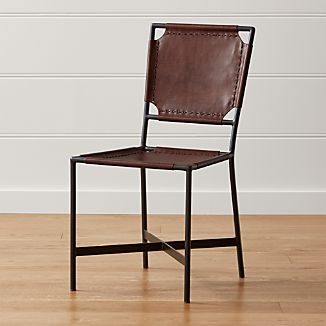Merveilleux Laredo Brown Leather Dining Chair