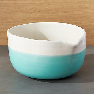 Aqua Dip Mixing Bowl with Spout