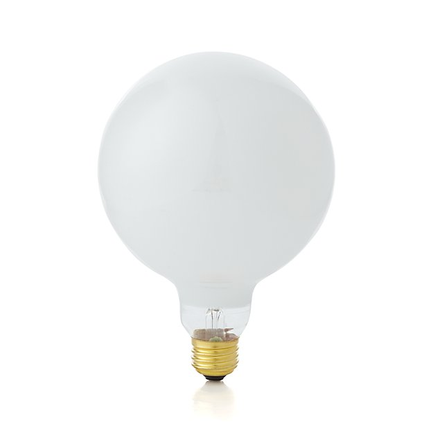 large 60w soft white globe light bulb reviews crate and barrel