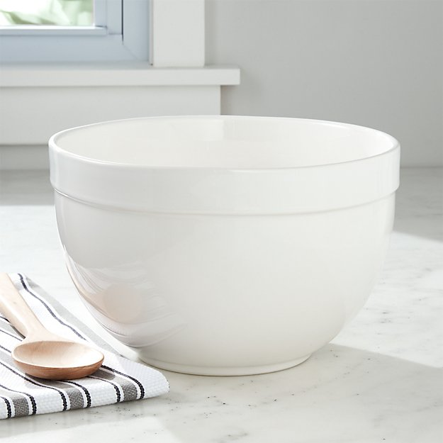 Top Large White Mixing Bowl + Reviews | Crate and Barrel YV65