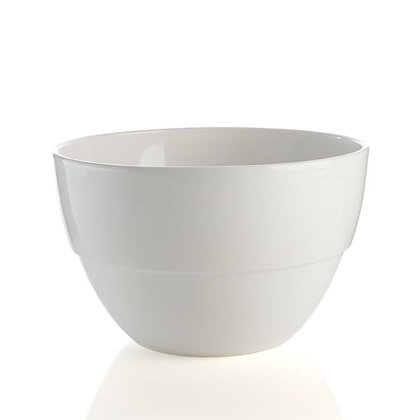 Large White Market Bowl