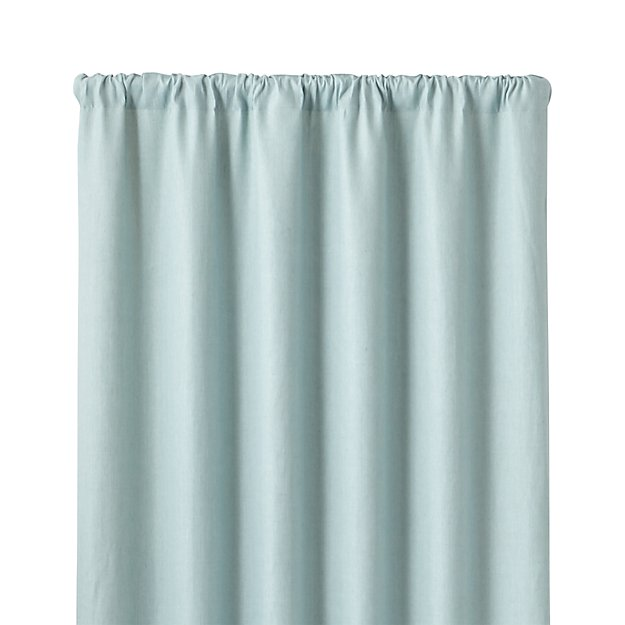"Largo Aqua Linen 50""x108"" Curtain Panel"
