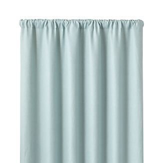 "Largo Aqua Linen 50""x96"" Curtain Panel"