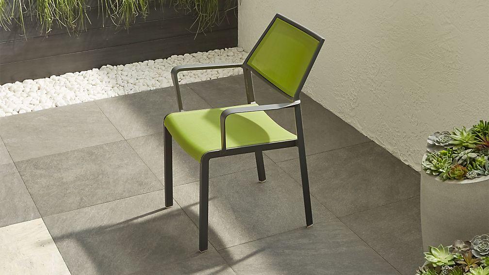 Largo Grass Green Mesh Dining Chair