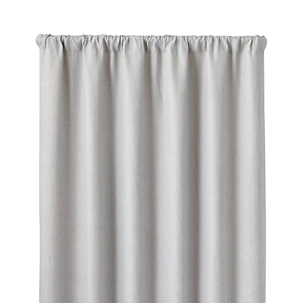 largo grey linen 50 x84 curtain panel crate and barrel. Black Bedroom Furniture Sets. Home Design Ideas