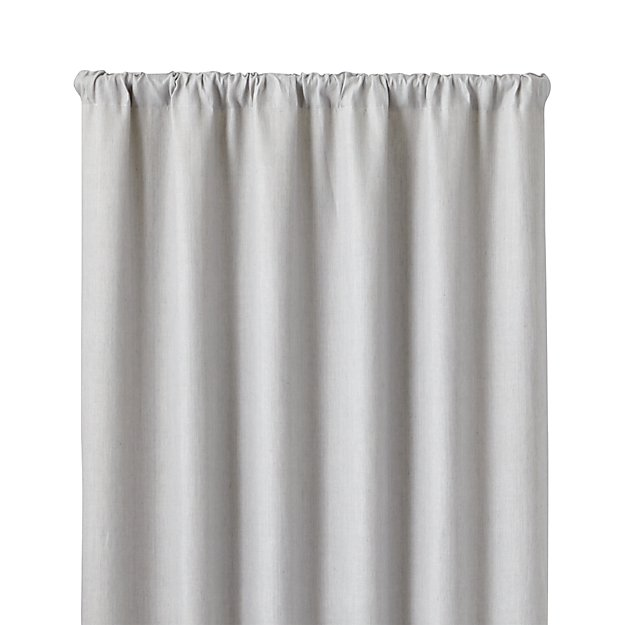 "Largo Grey Linen 50""x84"" Curtain Panel"