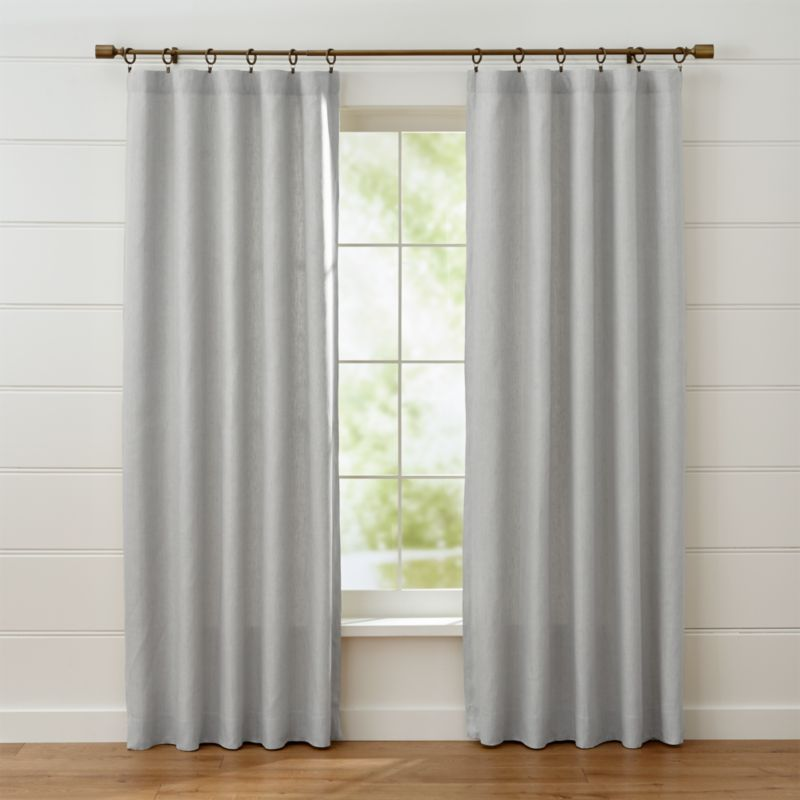 Largo Grey Linen Curtain Panels Crate And Barrel