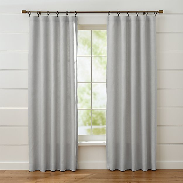 Largo Grey Linen Curtain Panels