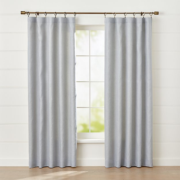 Largo Grey Linen Blackout Curtain Panel - Image 1 of 7