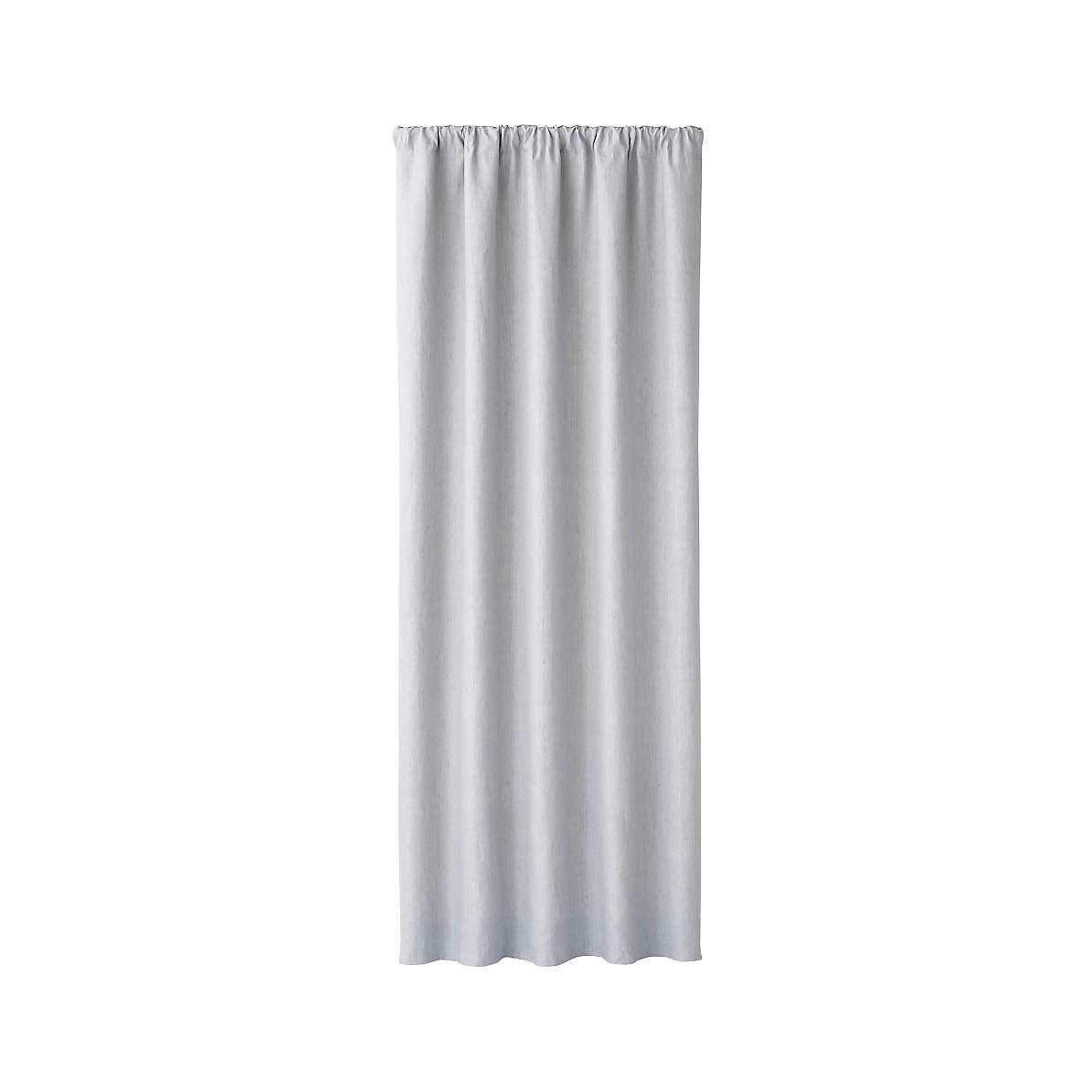 Largo Grey Linen Blackout Curtain Panel