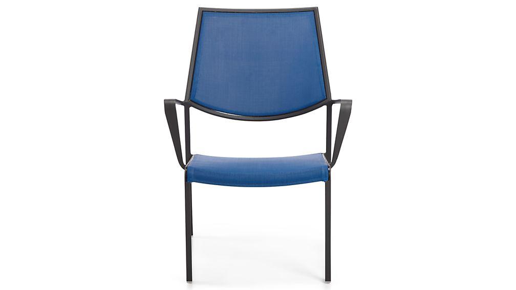 Largo Mediterranean Blue Mesh Lounge Chair