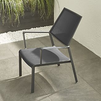 largo charcoal grey mesh lounge chair crate patio furniture e94 crate