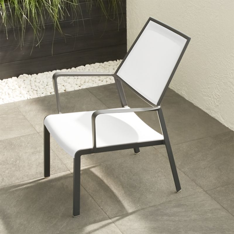 Largo White Mesh Lounge Chair