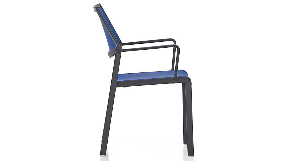Largo Mediterranean Blue Mesh Dining Chair