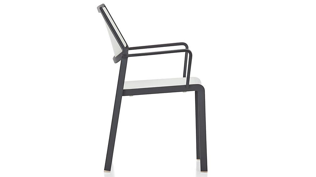 Largo White Mesh Dining Chair
