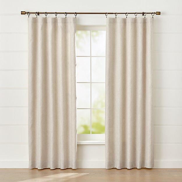 Largo Natural Linen Blackout Curtain Panel - Image 1 of 7