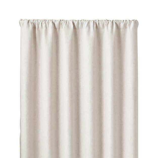"Largo Natural Linen 50""x84"" Curtain Panel"