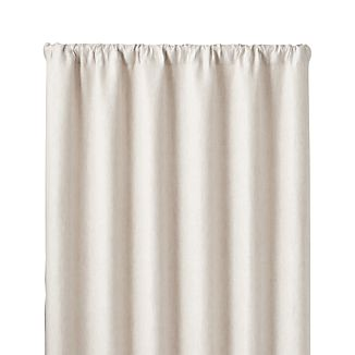 "Largo Natural Linen 50""x96"" Curtain Panel"