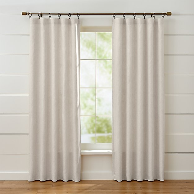 Largo Natural Linen Curtain Panels Crate And Barrel