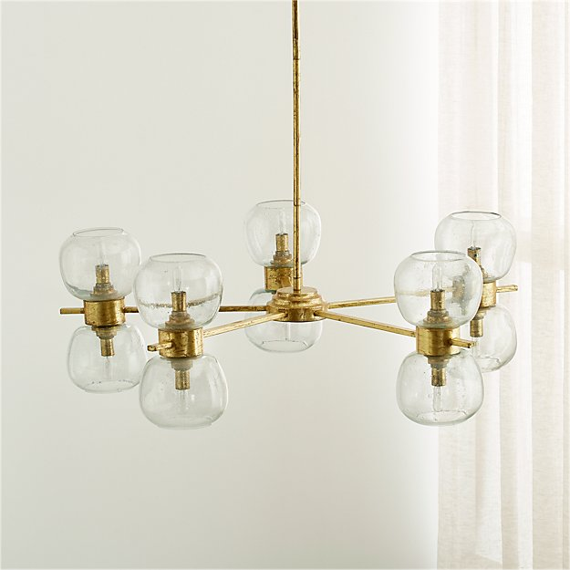 Pearson 5 arm chandelier reviews crate and barrel mozeypictures Choice Image