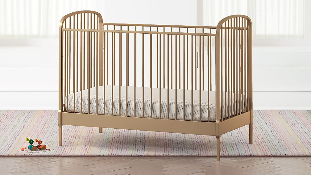 Larkin Gold Metal Crib Reviews Crate And Barrel