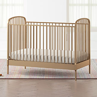 Larkin Gold Metal Crib