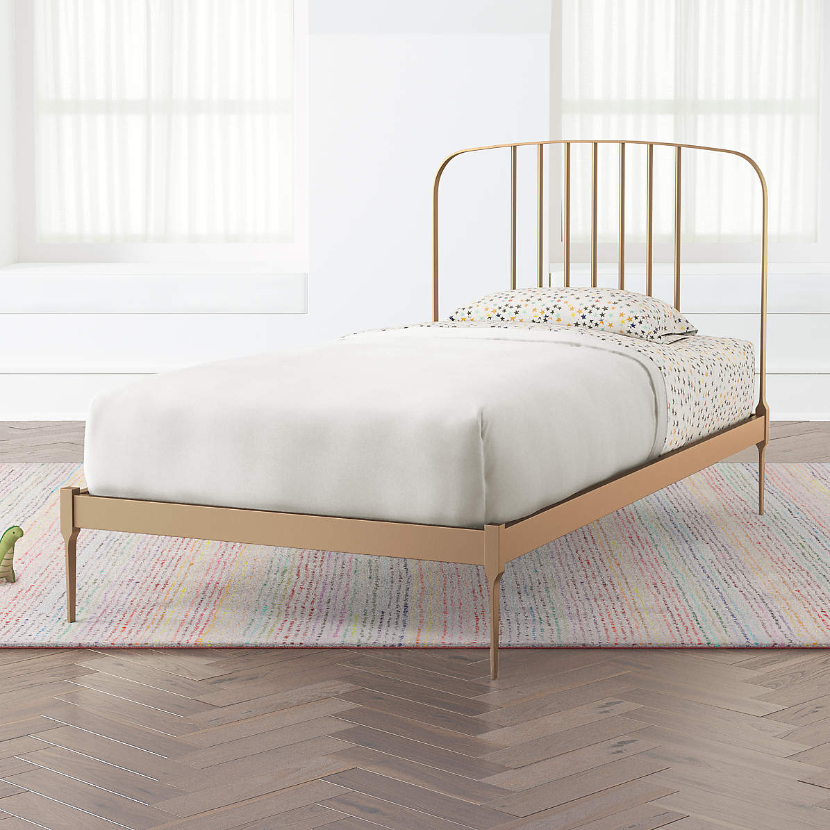 Larkin Twin Gold Bed Frame Reviews Crate And Barrel