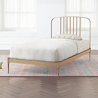 Larkin Gold Metal Bed