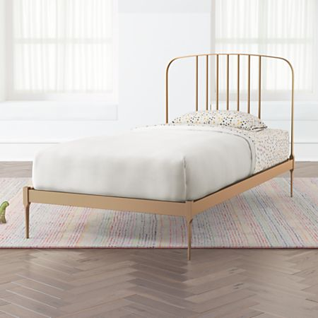 Miraculous Larkin Gold Metal Bed Download Free Architecture Designs Scobabritishbridgeorg
