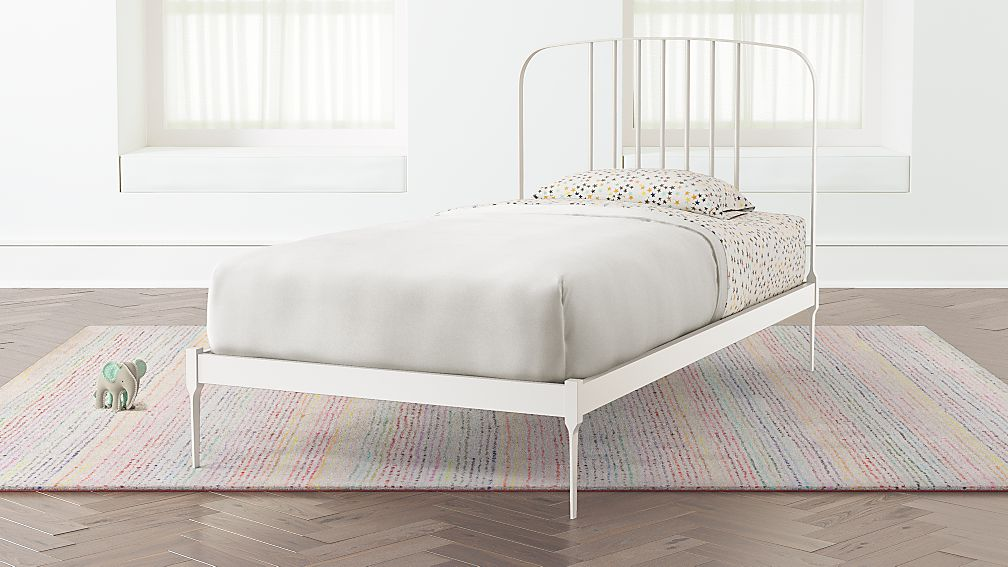 Larkin White Metal Bed | Crate and Barrel