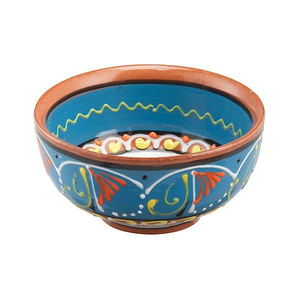 "Las Ramblas 5.5"" Blue Bowl"