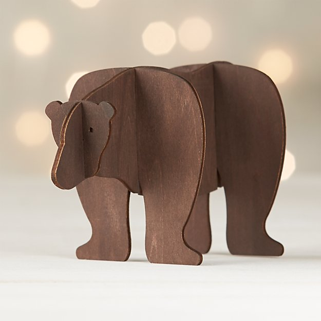Laser Cut Wood Bear