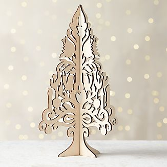 Laser-Cut Wood Tree With Birds