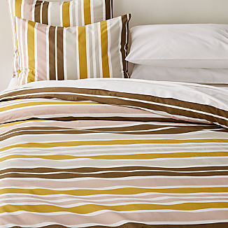 Latour Striped Percale Duvet Covers and Pillow Shams